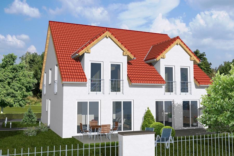 Doppel und reihenh user bgw hausbau for Doppelhaus modern