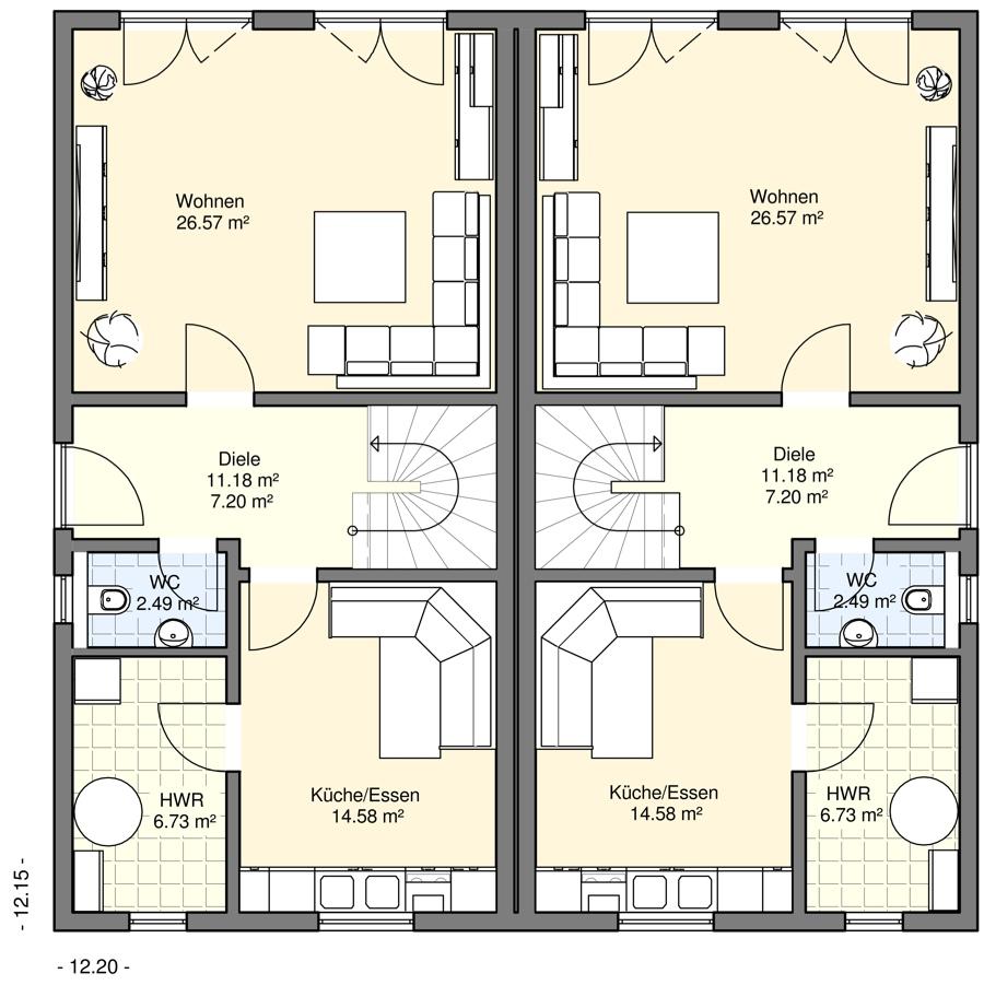doppel und reihenh user bgw hausbau. Black Bedroom Furniture Sets. Home Design Ideas