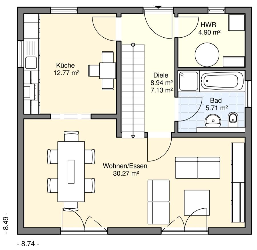 Einfamilienh user bgw hausbau for Grundriss einfamilienhaus 140 qm